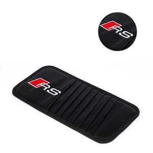 Sun Visor Disc Holder MONSTER Carbon Fiber AUDI RS SLine Sun Visor Disc Holder Organizer Storage