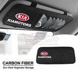 Sun Visor Disc Holder Kia Carbon Fiber KIA Sun Visor Disc Holder Organizer Storage