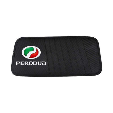 Sun Visor Disc Holder Perodua Carbon Fiber PERODUA Sun Visor Disc Holder Organizer Storage