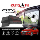 Sunshade City 2014-2018 HONDA City 2014-2018 KUNG FU SHADES Fully Magnetic Sunshade 4 PCS