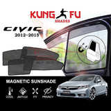 Sunshade Civic FB HONDA Civic FB 2012-2015 KUNG FU SHADES Fully Magnetic Sunshade 4 PCS