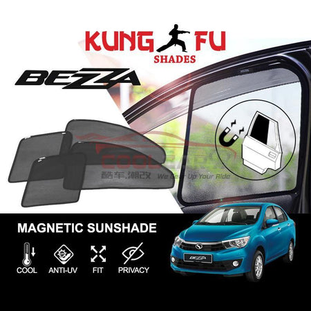 Sunshade BEZZA PERODUA Bezza KUNG FU SHADES Fully Magnetic Sunshade 4 PCS