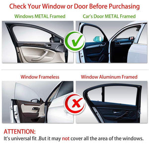 Sunshade Kancil PERODUA Kancil KUNG FU SHADES Fully Magnetic Sunshade 4 PCS