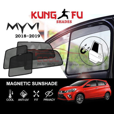 Sunshade MYVI 18-19 PERODUA Myvi 18-19 KUNG FU SHADES Fully Magnetic Sunshade 4 PCS