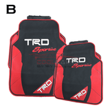 TOYOTA TRD Car Carpet Latex Floor Mats Foot Mats 5Pcs