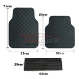 TRD Blue TOYOTA TRD Car Carpet Latex Floor Mats Foot Mats 5Pcs