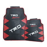 TRD Red TOYOTA TRD Car Carpet Latex Floor Mats Foot Mats 5Pcs