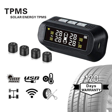 TPMS External Sensor TPMS Color Screen Tire Pressure Monitoring System Solar Wireless LED Display