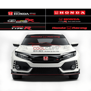 Windshield Sticker Nissan-1 Honda Mugen Type R Front Windscreen Windshield Window Sticker