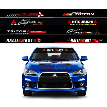 Windshield Sticker ISZ 1 Mitsubishi Ralliart Front Windscreen Windshield Window Sticker