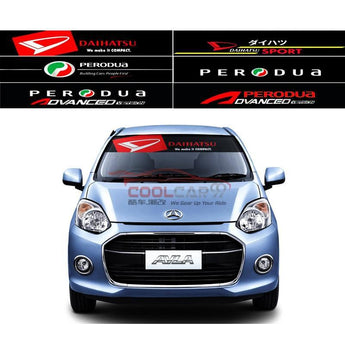 Windshield Sticker Perodua Daihatsu Front Windscreen Windshield Window Sticker