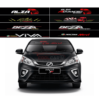 Windshield Sticker Alza-1 Perodua Front Windscreen Windshield Window Sticker