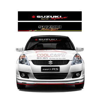 Windshield Sticker SUZ-1 SUZUKI Front Windscreen Windshield Window Sticker
