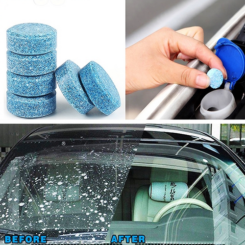 Windshield Windscreen Cleaner Glass Cleaner Car Solid Wiper Window Cleaning 2Gram