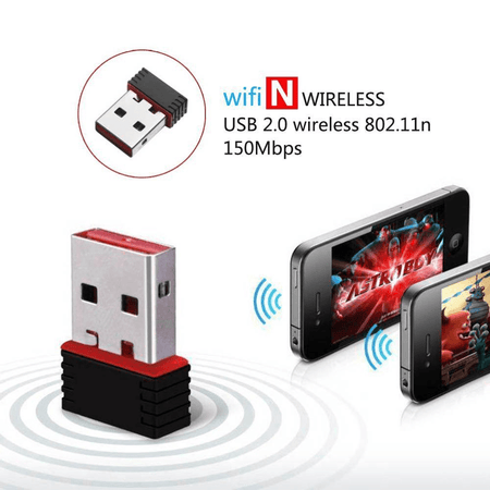 Type B Wireless Mini USB Wifi Dongle Network Adapter 802.11n 150Mbps for Windows Linux PC