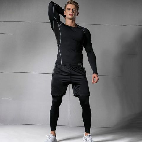 Men's Quick-Drying Three-Piece Sports Suit