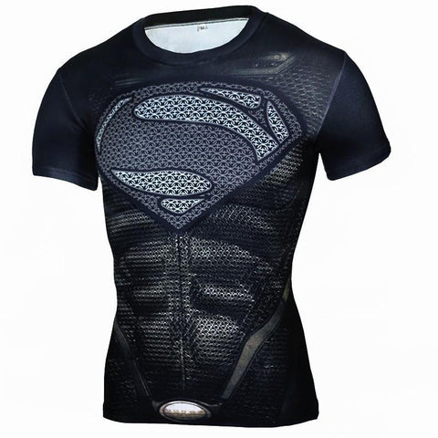 Men's Fitness Quick-Drying Tops Tights Short-Sleeved Shirt