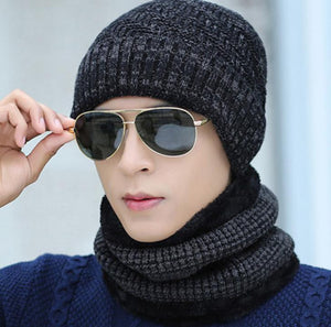 Wool hat autumn and winter plus velvet thick warm knit hat