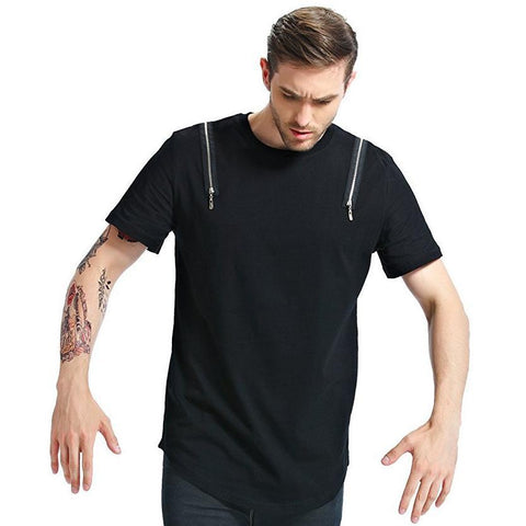 Kiwiidea Basic T-Shirt With Double Zippers
