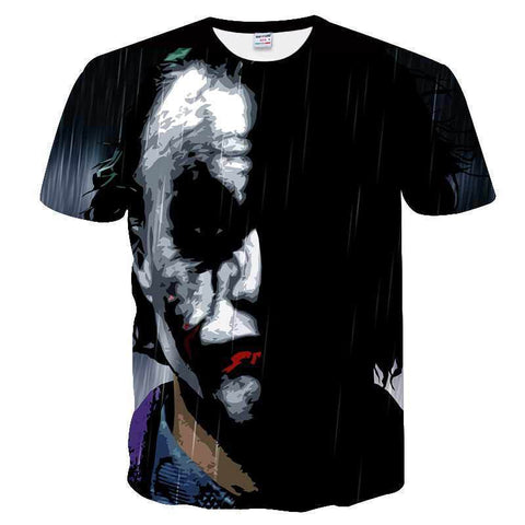 Men's Fashion Printed Clown Short T-shirt