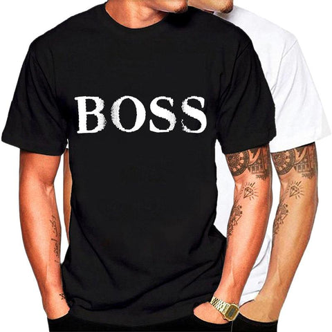 Men's T-Shirt BOSS Letter Print   T-Shirts