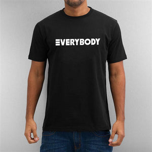 Letter Verybody Men's Cotton   T-Shirt Short Sleeve