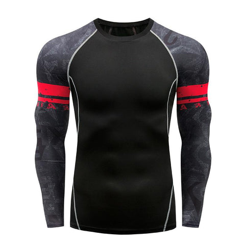 Men's Long Sleeve Quick-Drying Wicking Sports Tights