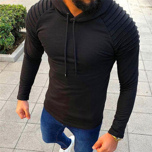 Fashion Solid Color Stitching Hooded Long-Sleeved Sweaters