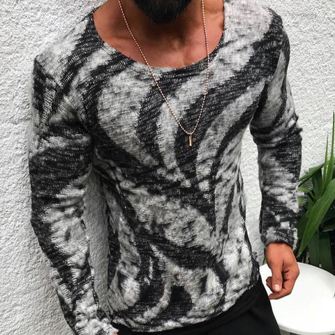 Fashion Individuality Round Neck Long Sleeve T-Shirt