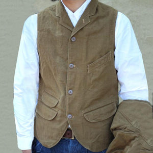 Casual Pure Color Single Breasted Vest