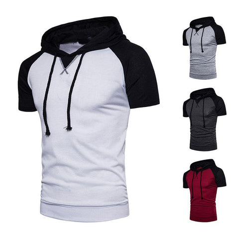 Men Large Size Hooded T-Shirt