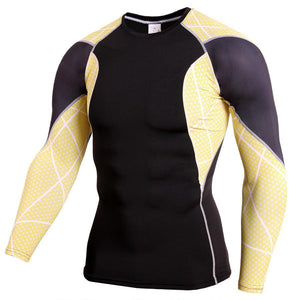 Men's Sports Breathable And Quick-Drying Fitness Sports Tights PRO Long Sleeves
