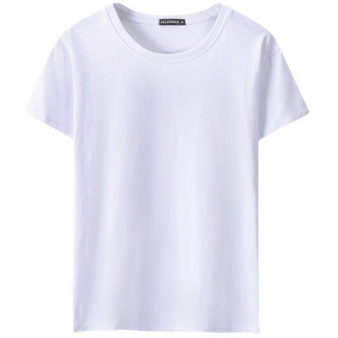 Simple New Men's Solid Color Short-Sleeved T-Shirt