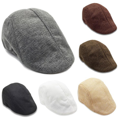 Linen beret spring and autumn new comfortable breathable cap