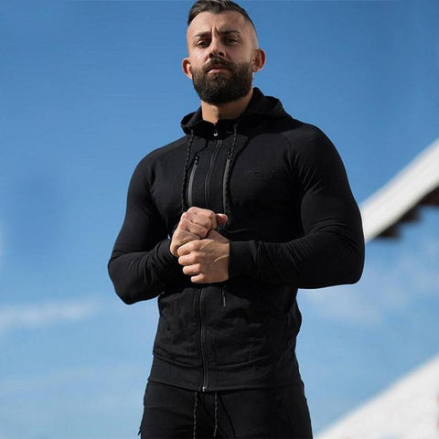 Men Sports Breathable Casual Hoodie