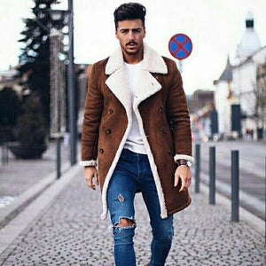 Fashion Men's Long Sleeve Warm Thicken Outerwear