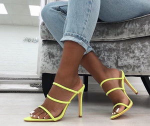 2019 Fashion Slip-on Sexy High Heels Sandals