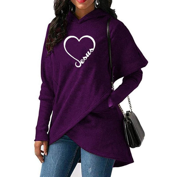 2019 New Love Heart Jesus Faith Print Sweatshirt