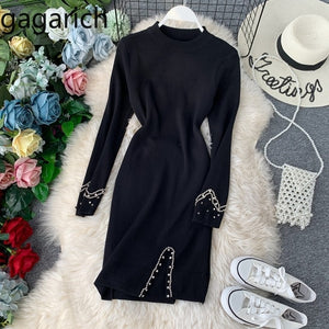 Queen Beads Sexy Knitted Dress