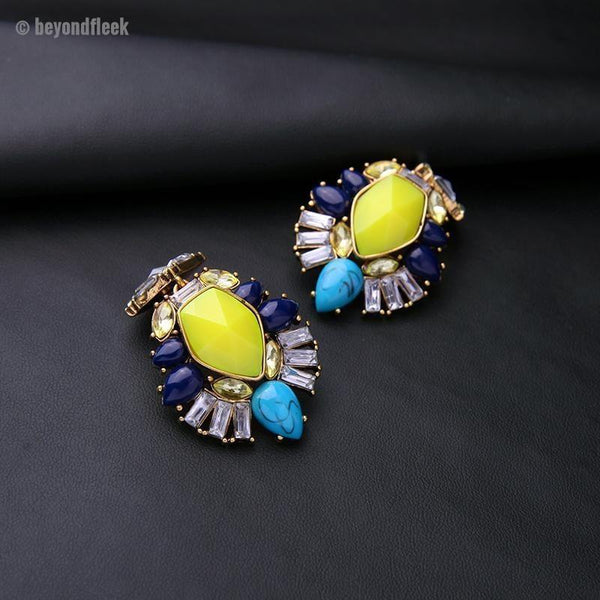 New Colorful Flower Earrings