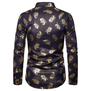 The Royal Floral Printed Dress Shirts  S-XXL