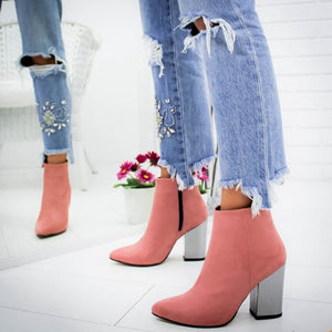 Mirror Heels Ankle Boots