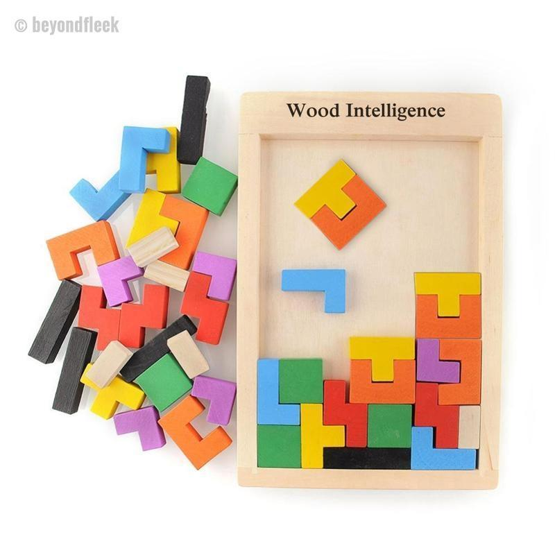 Colorful Wooden Tangram Brain Teaser Puzzle
