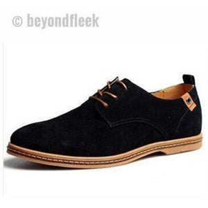 Men Shoes Suede Leather Casual Flat Shoes
