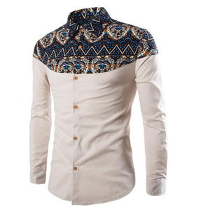 Fashion Long Sleeve Floral Shirts