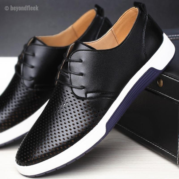 New 2018 Men Casual Leather Shoes