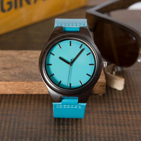 Handmade Ebony Wooden Couples Watch