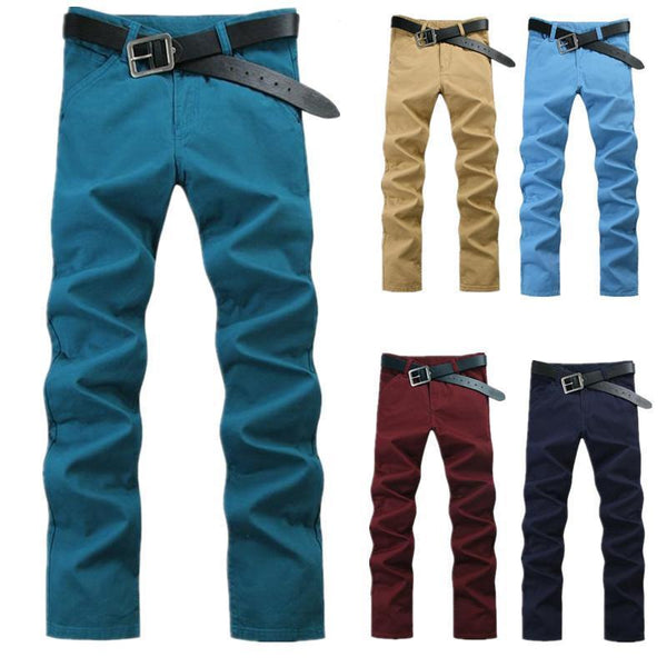 New Arrival 100% Cotton Slim Straight Casual Pants