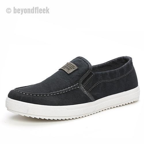 Men Canvas British Loafers