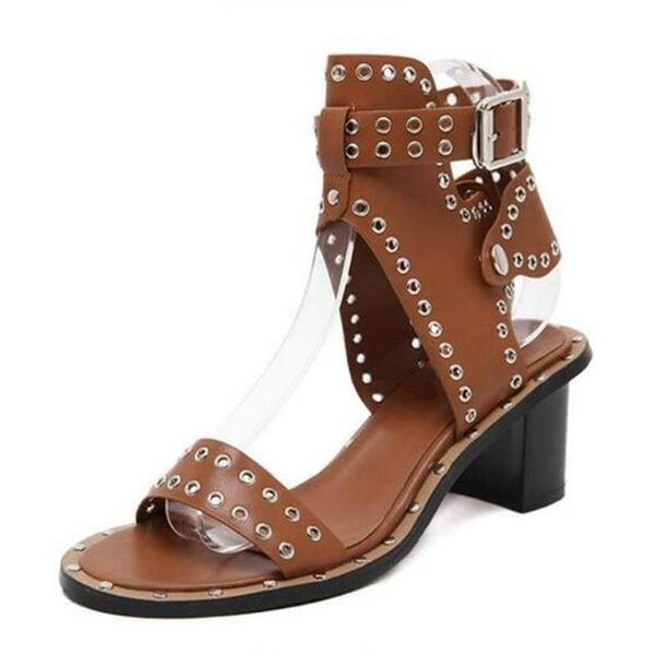 Lady Romel Rome Square Strap Sandals
